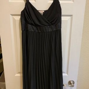 Black Accordion Style Cocktail Dress
